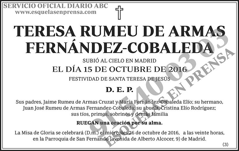 Teresa Rumeu de Armas Fernández-Cobaleda